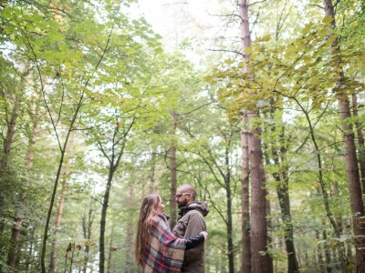 An engagement shoot on The Chevin Otley