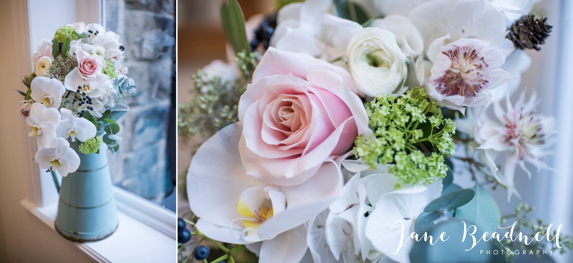 Leafy couture wedding flowers wedding photography by Jane Beadnell photography_0011
