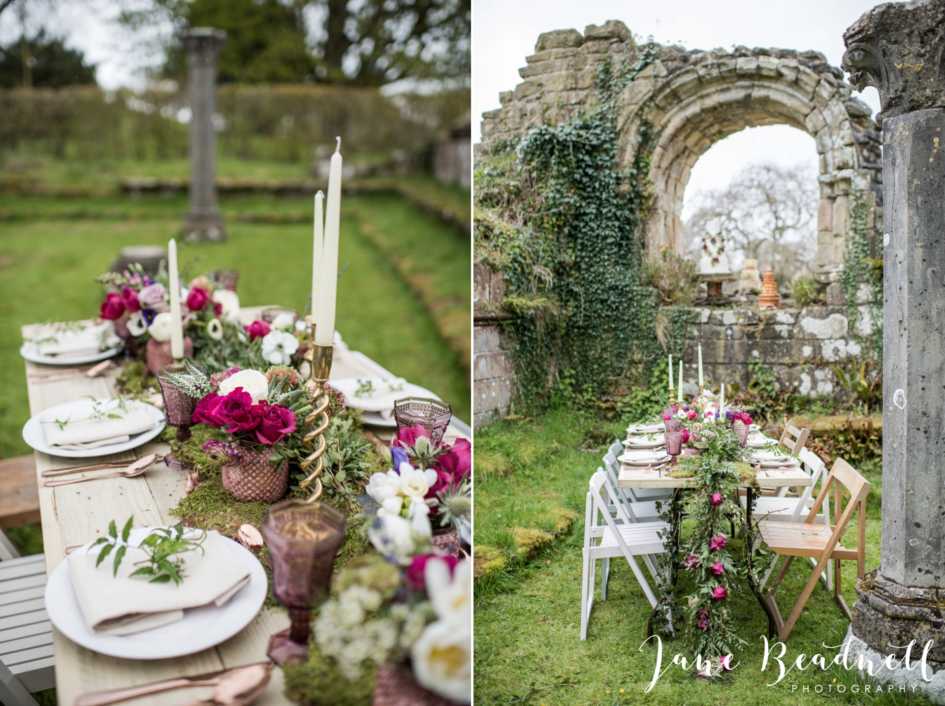 Jervaulx Abbey wedding photography fine art Yorkshire wedding photographer jane beadnell_0003
