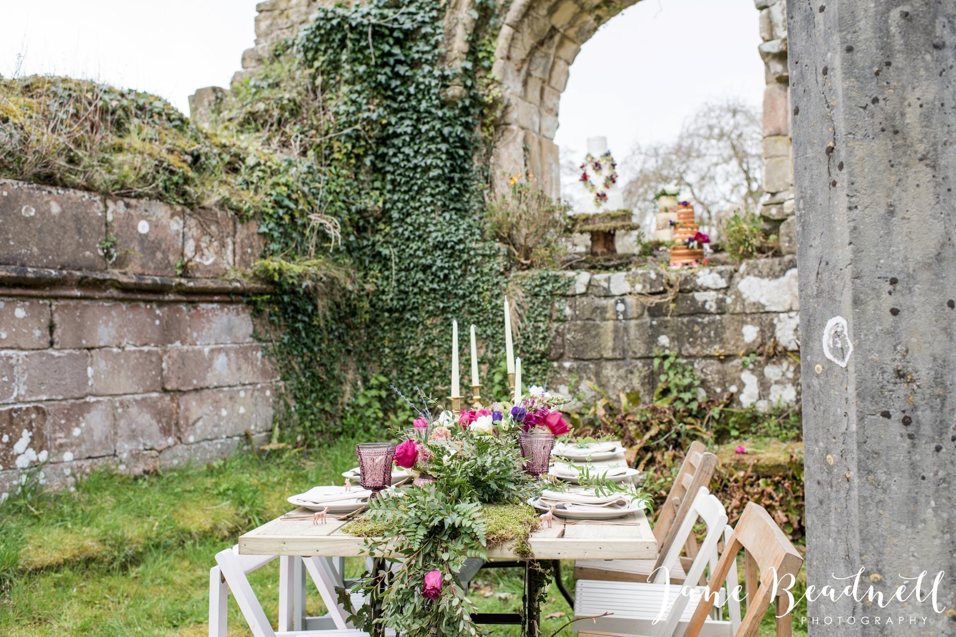 Jervaulx Abbey wedding photography fine art Yorkshire wedding photographer jane beadnell_0014