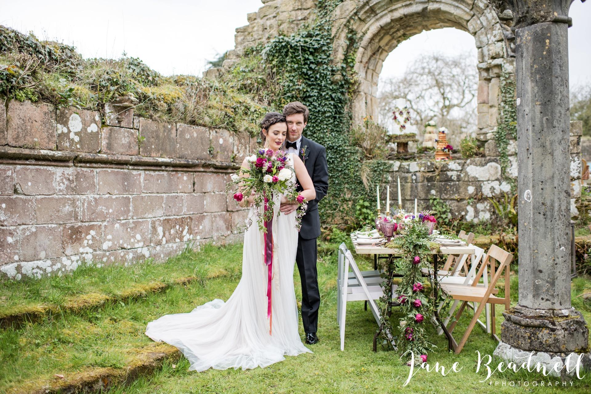 Jervaulx Abbey wedding photography fine art Yorkshire wedding photographer jane beadnell_0028