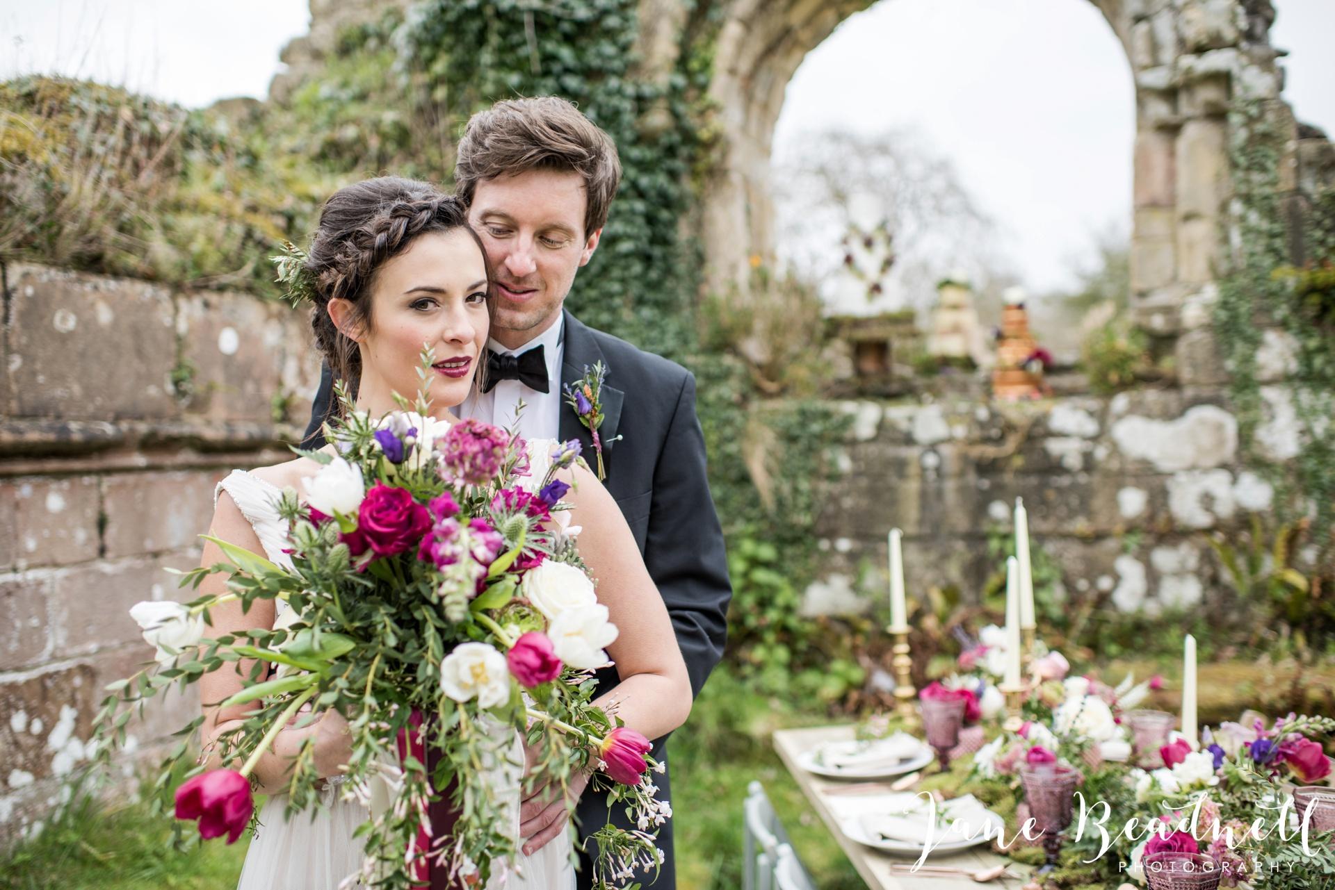 Jervaulx Abbey wedding photography fine art Yorkshire wedding photographer jane beadnell_0029