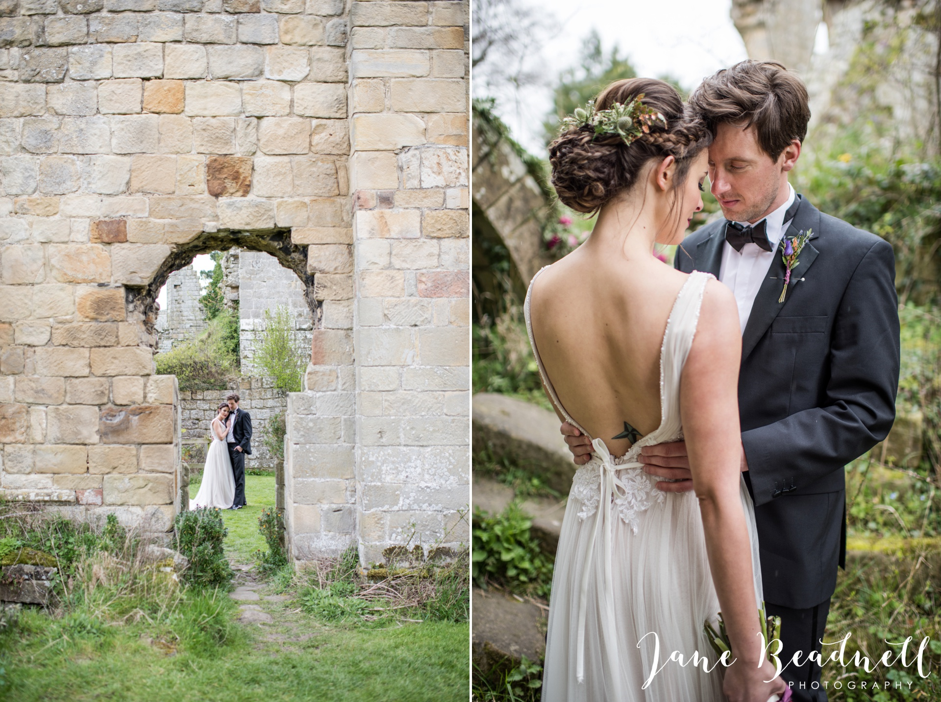 Jervaulx Abbey wedding photography fine art Yorkshire wedding photographer jane beadnell_0031