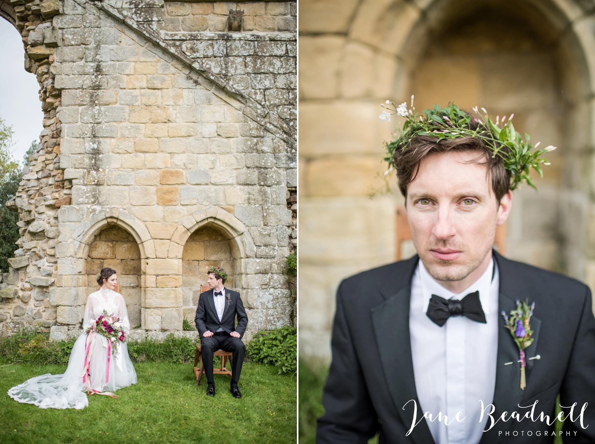 Jervaulx Abbey wedding photography fine art Yorkshire wedding photographer jane beadnell_0047