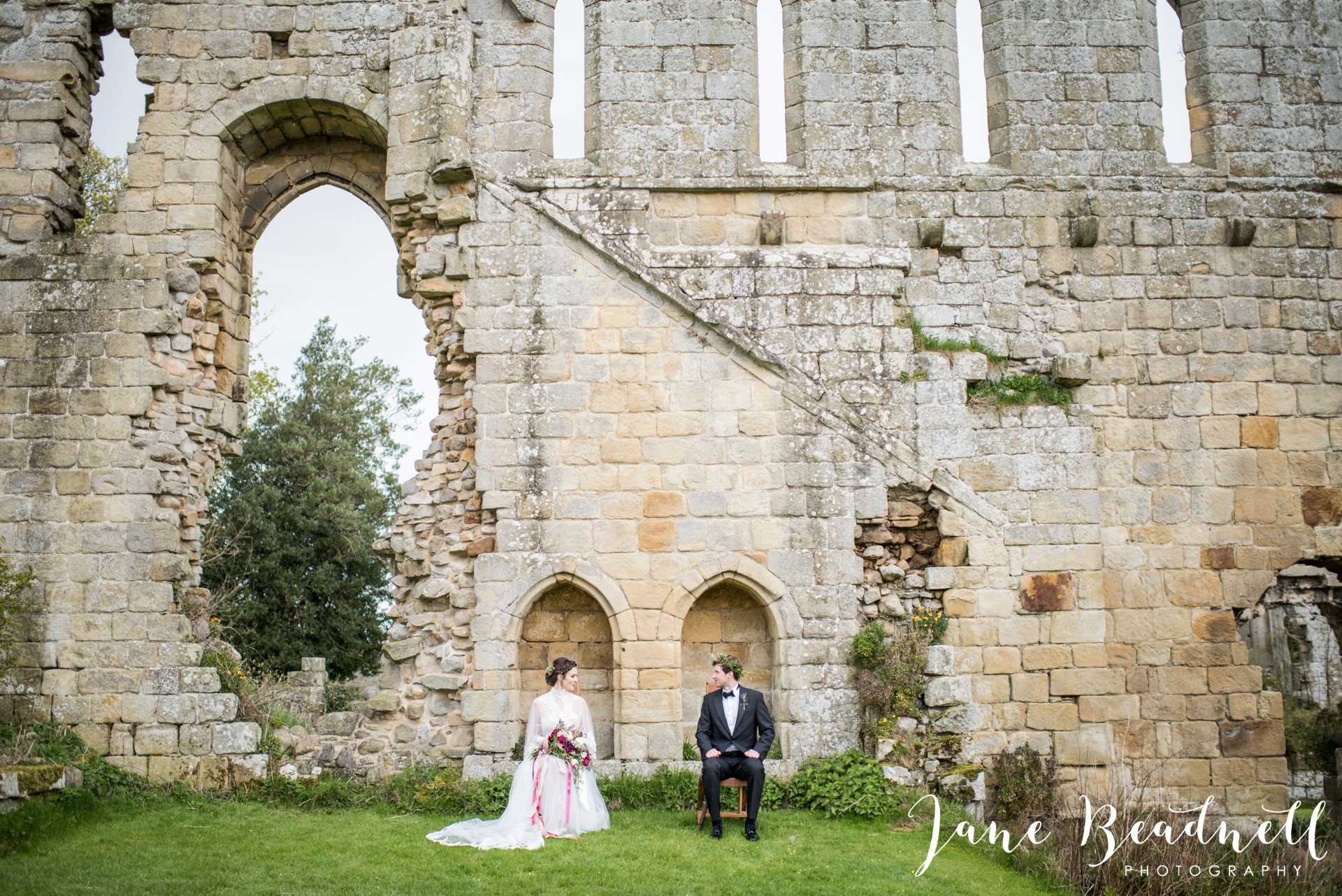 Jervaulx Abbey wedding photography fine art Yorkshire wedding photographer jane beadnell_0048