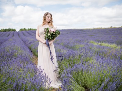 The Cotswold Lavender Field Wedding Photography