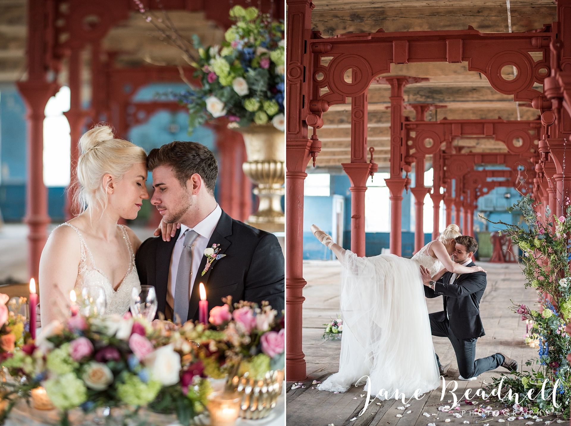 Ballet themed styled wedding shoot at Dalton Mills by Jane Beadnell Photography-0_0068