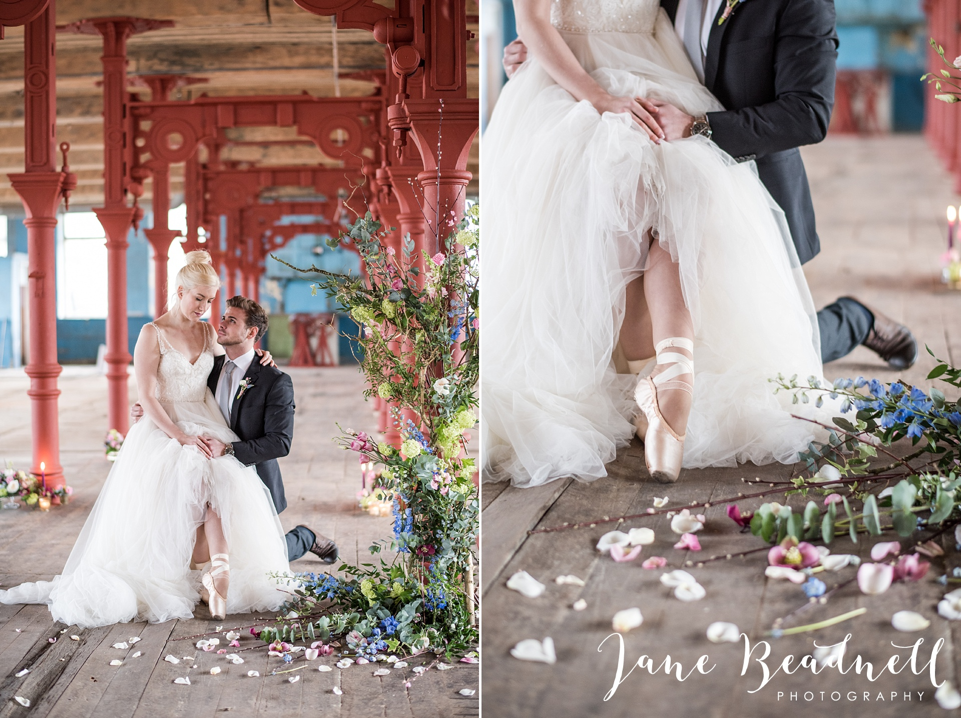 Ballet themed styled wedding shoot at Dalton Mills by Jane Beadnell Photography-0_0070