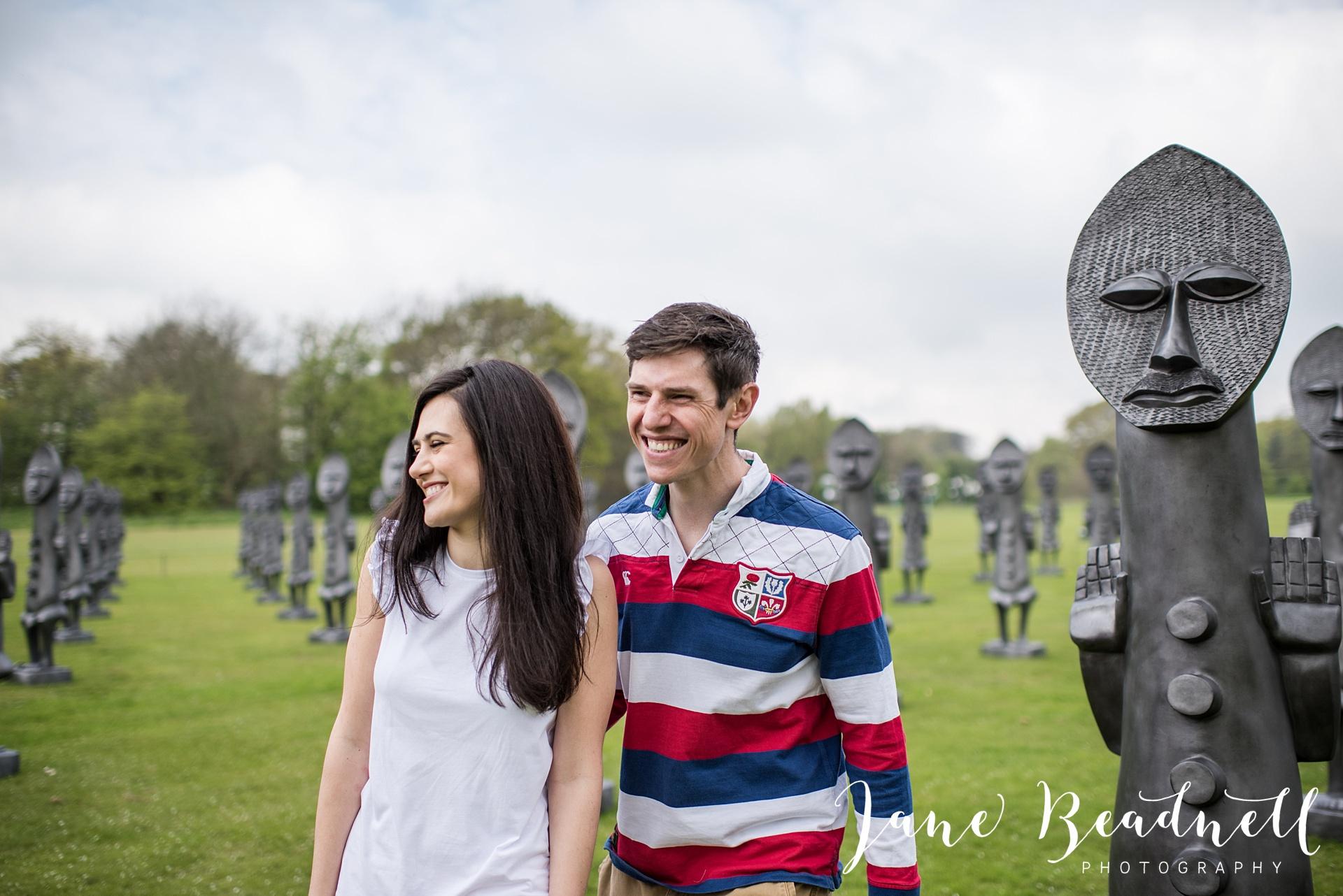 Yorkshire Sculpture Park Engagement Shoot Leeds wedding photographer Jane Beadnell_0036