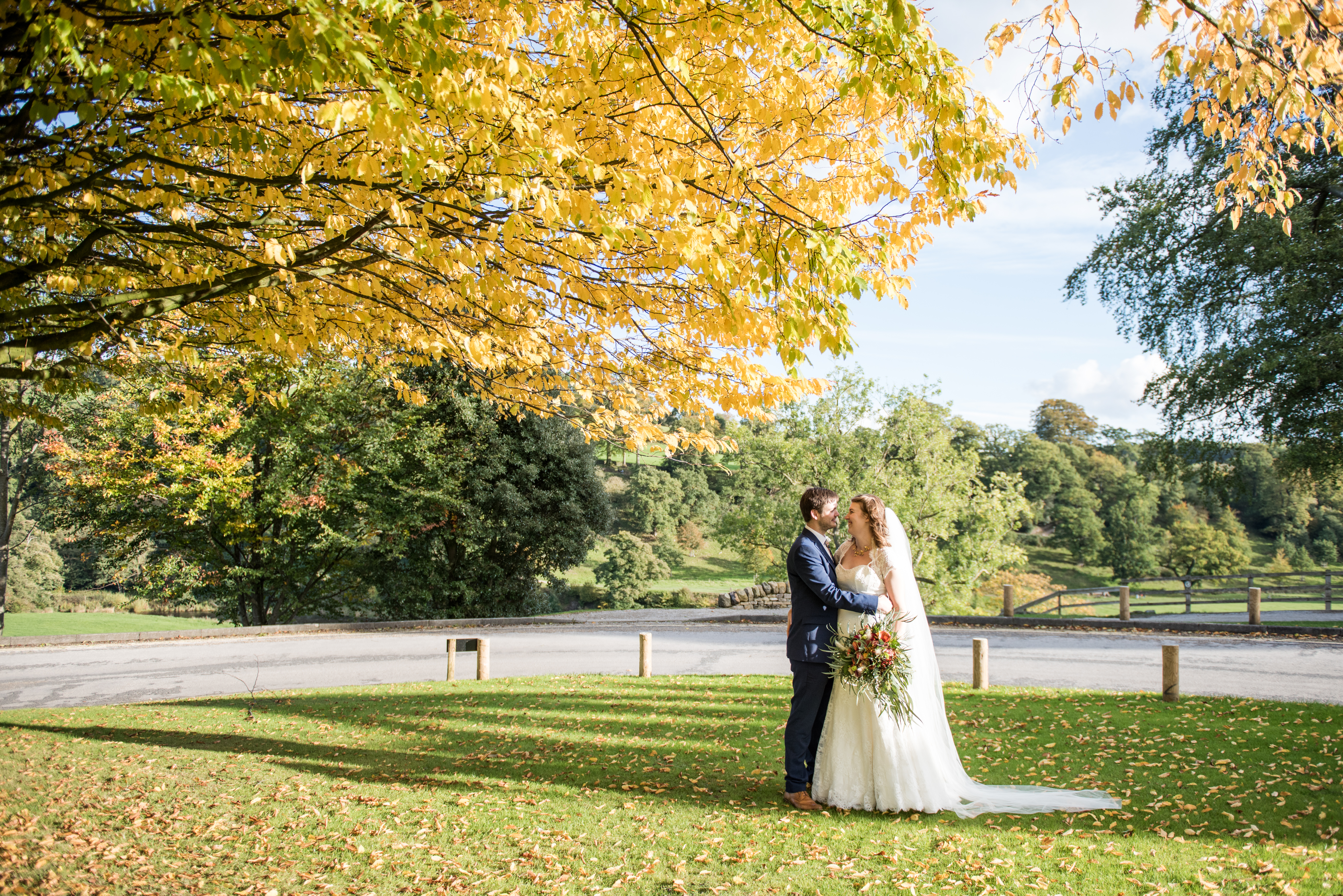 Bolton Abbey wedding photography by Yorkshire wedding photographer Jane Beadnell Photography