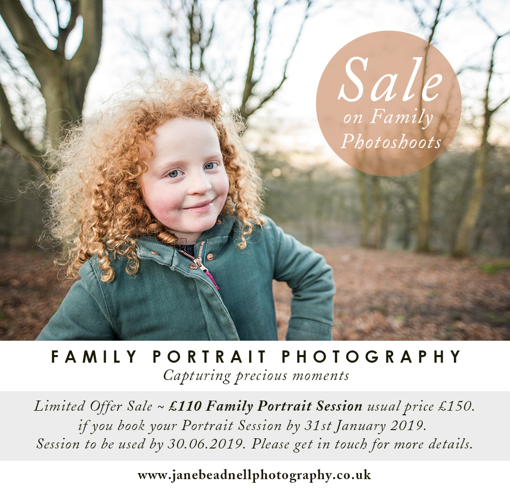 January Sales family portrait photographer Otley West Yorkshire photographer Portrait and Wedding Photographer Jane Beadnell Photography